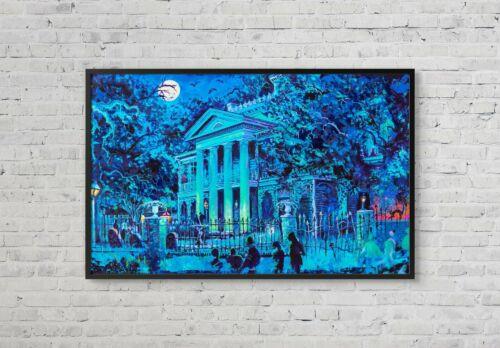 Disneyland Haunted Mansion Exterior Concept Poster