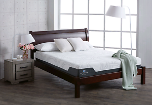 Queen bed frame sleigh solid wood St Kilda Port Phillip Preview