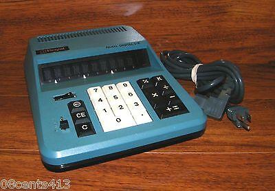 "Vintage Royal Litton Teal Digital I - K Large (11"" x 8"") AC Powered Calculator"