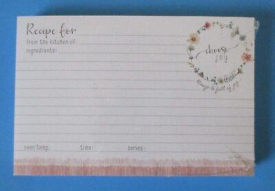 Choose Joy pack 50 RECIPE CARDS Legacy housewarming bridal shower gift - Bridal Shower Recipe Cards