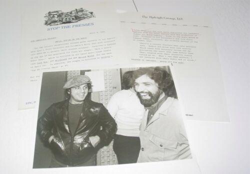 Billy Joel Felix Cavaliere Original Vintage 8x10 Photo April 1980 Glass Houses