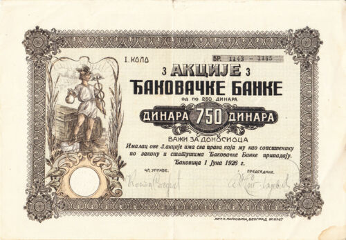 SHAREHOLDING - KOSOVO , SERBIA 1926