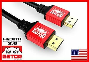 Premium HDMI 2.0 Cable 6FT HDTV LED LCD PS4 V2.0 3D 2160P 4Kx2K XBOX BLURAY DVD
