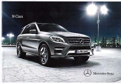 Mercedes-Benz M-Class 2011-12 UK Market Launch 20pp Sales Brochure 250 350