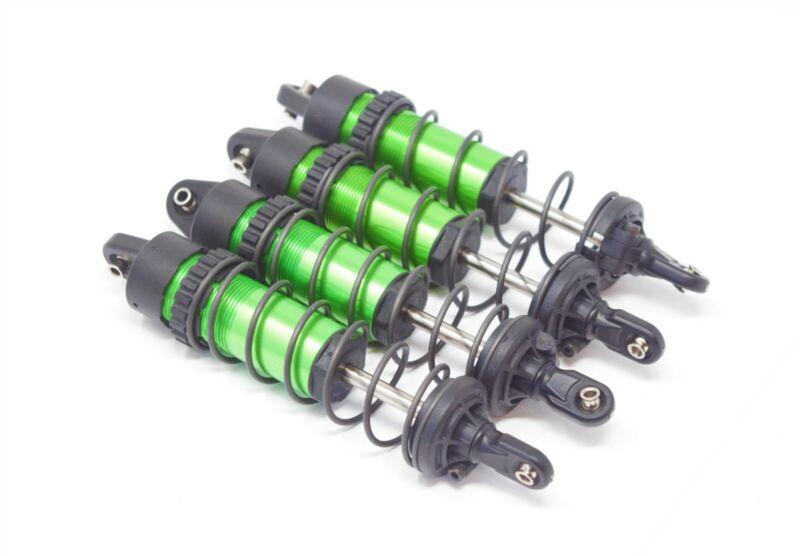 1/10 MAXX SHOCKS (GREEN-Anodized Gt-maxx 8961t dampers, springs Traxxas 89076-4