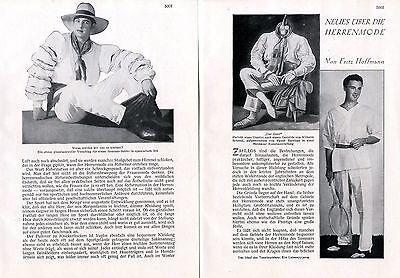 Neues über die Herrenmode ( Der Gent ) - 20er Jahre Mode Herren