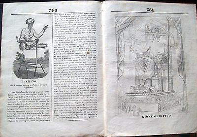 1835 BIOGRAFIA NEWTON; BRAHMIN THAT LEVITA; JUPITER TO PHIDIAS; FROM MAGAZINE L'