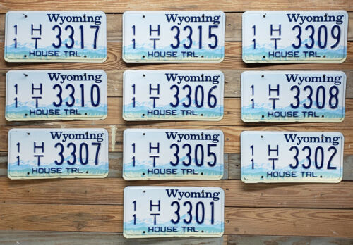 Wyoming Expired Lots of 10 1999 House Trailer Metal Auto Tags License Plate