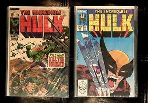 the Incredible Hulk 120  &  340 marvel comics