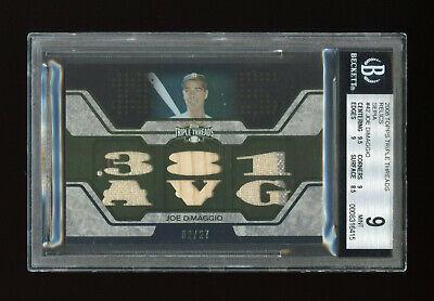 #/27 JOE DIMAGGIO 6x Jersey Bat 2008 Topps Triple Threads Yankees BGS 9 MINT