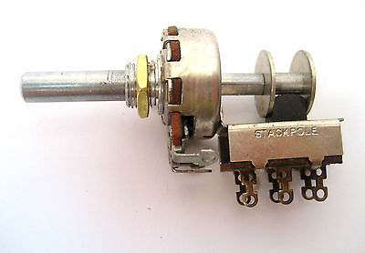 25k Linear Taper Potentiometer 12w Push In Dpdt Onoff Slide Switch Rare