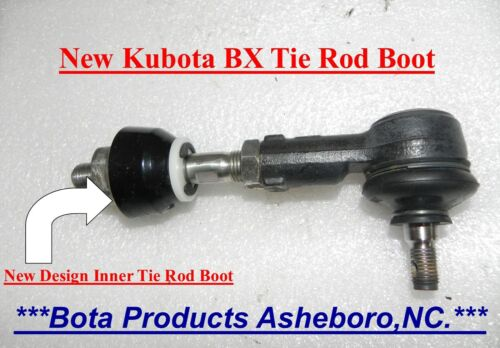 Kubota BX & GR Inner Tie Rod Boots Upgrade (all BX models) Kubota # K1253-01660)