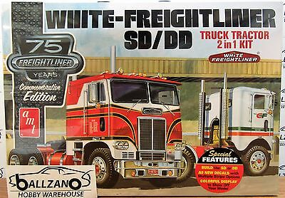 AMT White Freightliner 2-in-1 SC/DD Cabover Tractor (75th Anniv.) model kit 1/25 for sale  Shipping to Canada