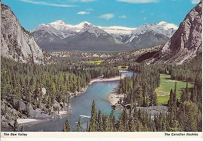 Postcard - The Bow Valley / The Canadian Rockies