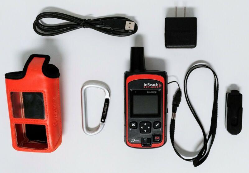 Delorme InReach Explorer Handheld Satellite SOS Text Communicator Navigator GPS