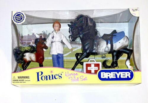 2007 Breyer Ponies Horse & Foal Veterinarian Vet Gift Set NIB #7038