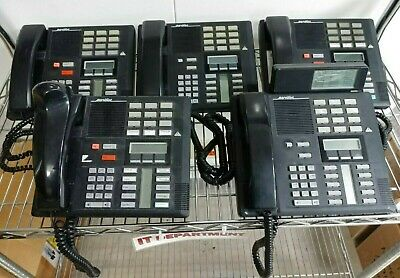 Lot Of 5 Northern Telecom Nortel Meridian Nt8b20xx M7310 Office Phones Tested