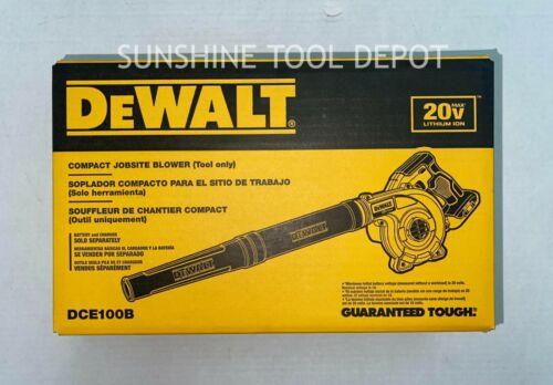 Dewalt DCE100 20V Cordless Blower 20 Volt MAX Compact Jobsite 100CFM