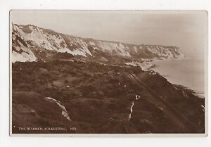 Folkestone-The-Warren-1943-S-E-RP-Postcard-A702