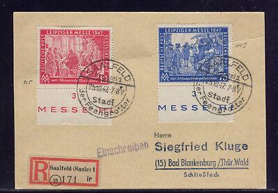 All.Bes: MiNr. 966 I; PLATTENFEHLER I; SATZ-RECO-KARTE ab SAALFELD 1947