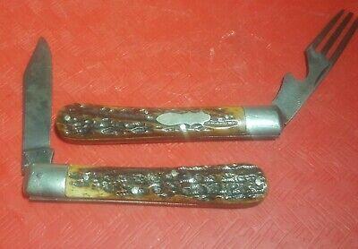 WESTERN STATES CUT CO SLOT HOBO Fork and Knife camping ANTIQUE VTG