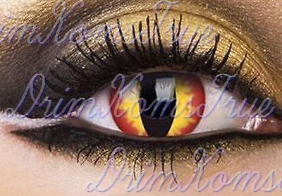 Devil Eye Makeup Halloween (Lens colored Devil Devil Snake/Lens Crazy,Costume,Halloween/6)