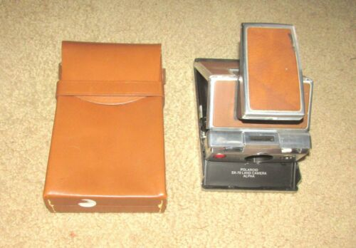 POLAROID SX-70 ALPHA LAND INSTANT FILM CAMERA 1 ONE w/ CASE TESTED