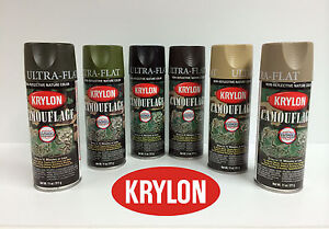 krylon camouflage spray paint set of 3 cans only brown and choice of 2. Black Bedroom Furniture Sets. Home Design Ideas