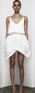 Shona Joy Cumulus drawstring dress mini dress in ivory size 6 Mollymook Shoalhaven Area Preview