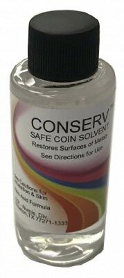 Conserv Safe Coin Cleaning Solvent Remove Impurities Tarnish Luster Restore 2 Oz