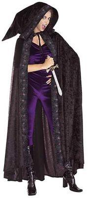 langes Halloween Cape mit Kapuze Karneval Hexenkostüm Damen Kostüm Hexe
