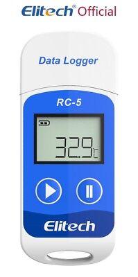 Elitech Rc-5 Usb Reusable Temperature Data Logger Internal Sensor 32000 Points