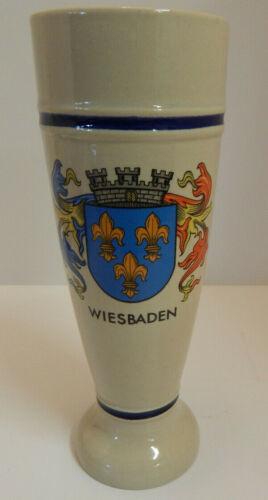 WIESBADEN GERMANY STONEWARE Pilsner Beer Stein