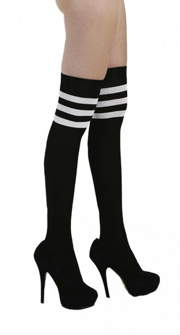 Overknees Socken Designer Damen Über Knie Strümpfe made in Italy Overknee