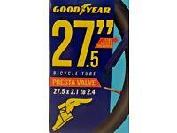 Good Year 27.5 Bicycle Inner tube 27.5 X 175 to 27.5 X 2.125 Presta ValveSystem