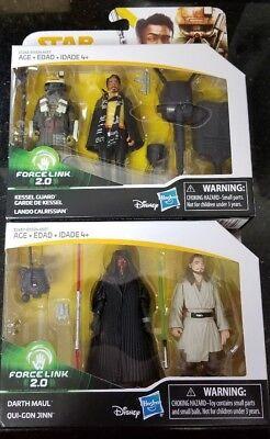 "Star Wars 3.75"" Han Solo Story LANDO KESSEL GUARD FORCE LINK 2-Pack NEW IN STOCK"