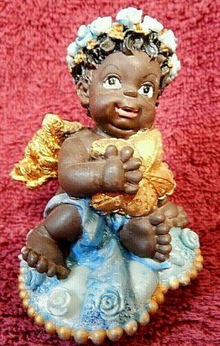 Black Baby Boy Angel Figurine