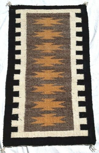 """NAVAJO RUG, Post -1970, Hand Spun and Loomed Wool, 19"""" by 33"""""""