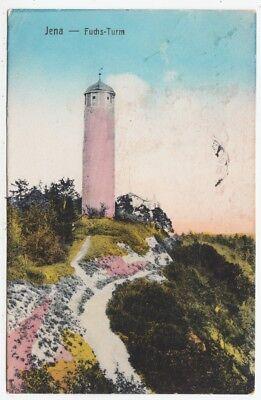 JENA - Fuchsturm - Fox Tower - Thuringia - Germany - 1932 used postcard