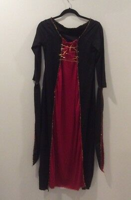 Vampire Dress Up (Junior Long Vampire Witch Long Dress Gown Dress-up)
