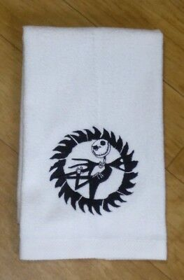 Embroidered JACK SKELLINGTON White Towel THE NIGHTMARE BEFORE CHRISTMAS NBC