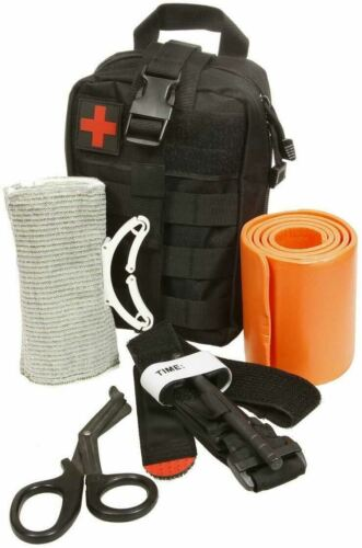 NEW ASATECHMED EMERGENCY SURVIVAL TRAUMA MEDICAL KIT W/ MOLLE POUCH FIRST AID KIT