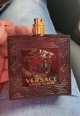 Versace Men's Eros Flame Eau De Parfum TESTER 3.4 oz ALMOST FULL *See Pics*