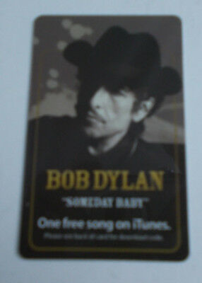 Bob Dylan 2006  Someday Baby  Picture Itunes Download Card  Plastic Vintage