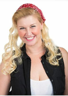 Mullet on the Go - The Backyard Betty Headband and Wig Party Costume - On The Go Halloween Costumes