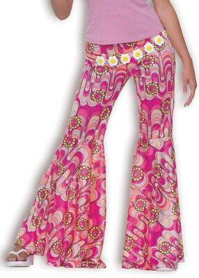 Flower-Power Schlaghose pink NEU - Damen Karneval Fasching - Verkleidungen Kostüme