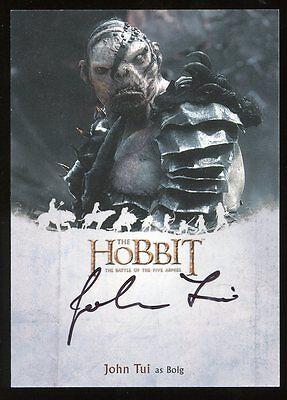 The Hobbit Battle of the Five Armies AUTO Autograph - John Tui as BOLG