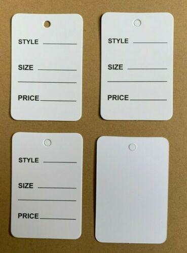White One Part Price Tag Coupon Clothing Price Tagging gun hang Label