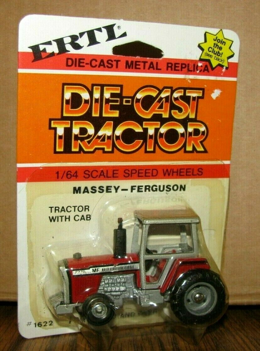 *1/64 Massey Ferguson MF 2775 Row Crop Tractor 1970's Ertl Toy #1622 Die Cast