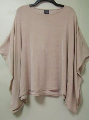 Slit Sleeve Top (Travelers Scoop Neck Slit Sleeve Poncho Top Sz S/M L/XL)